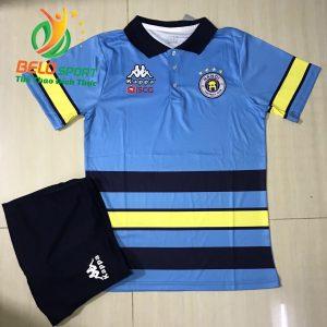 Áo bóng đá di chuyển CLB Hà Nội T&T 2019-2020 màu xanh da
