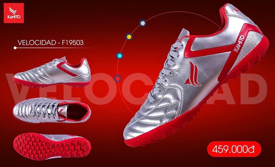 Giày Kamito chính hãng F19502 màu bạc chuyên sỉ