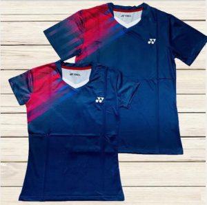 Áo cầu lông Yonex Y3 màu tím than phối đỏ mới nhất 2020