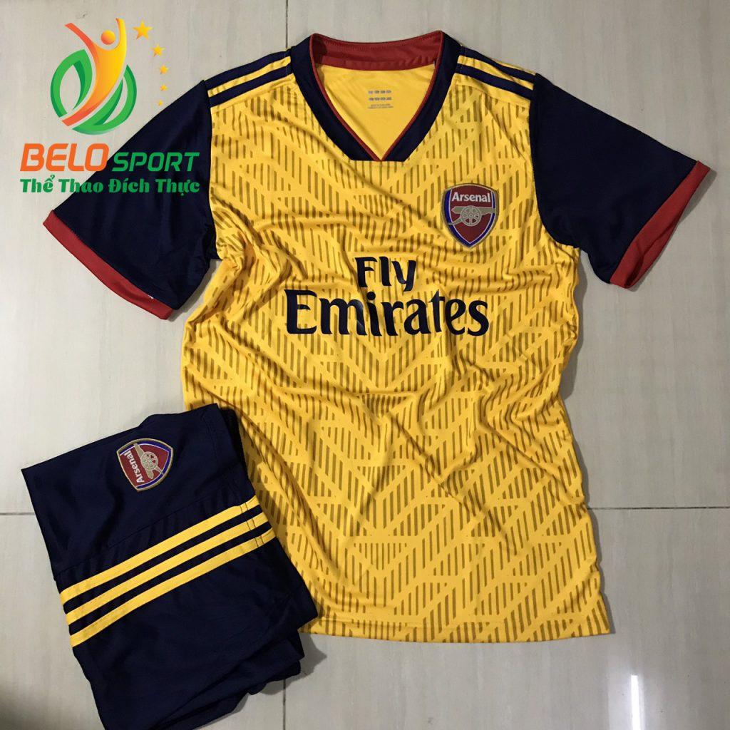 Áo Bóng đá CLB Arsenal màu vàng thiết kế độc quyền