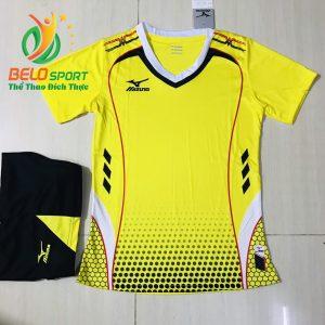 Áo bóng chuyền nam,nữ 2019 màu vàng độc quyền thiết kế