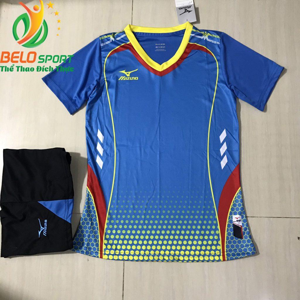 Áo bóng chuyền nam,nữ 2019 màu xanh độc quyền thiết kế