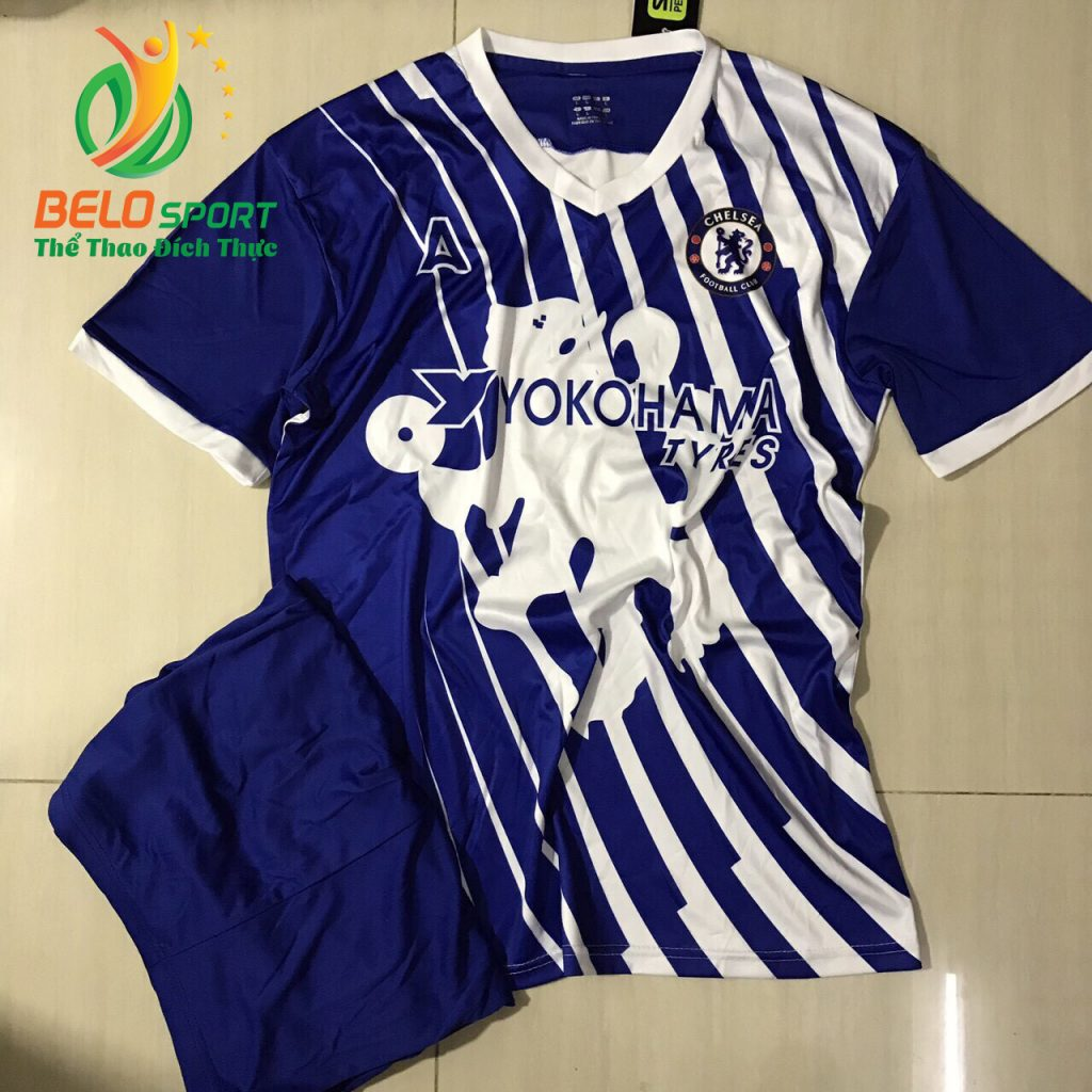 Áo Bóng đá CLB 2019 cheseal màu xanh mẫu độc quyền thiết kế