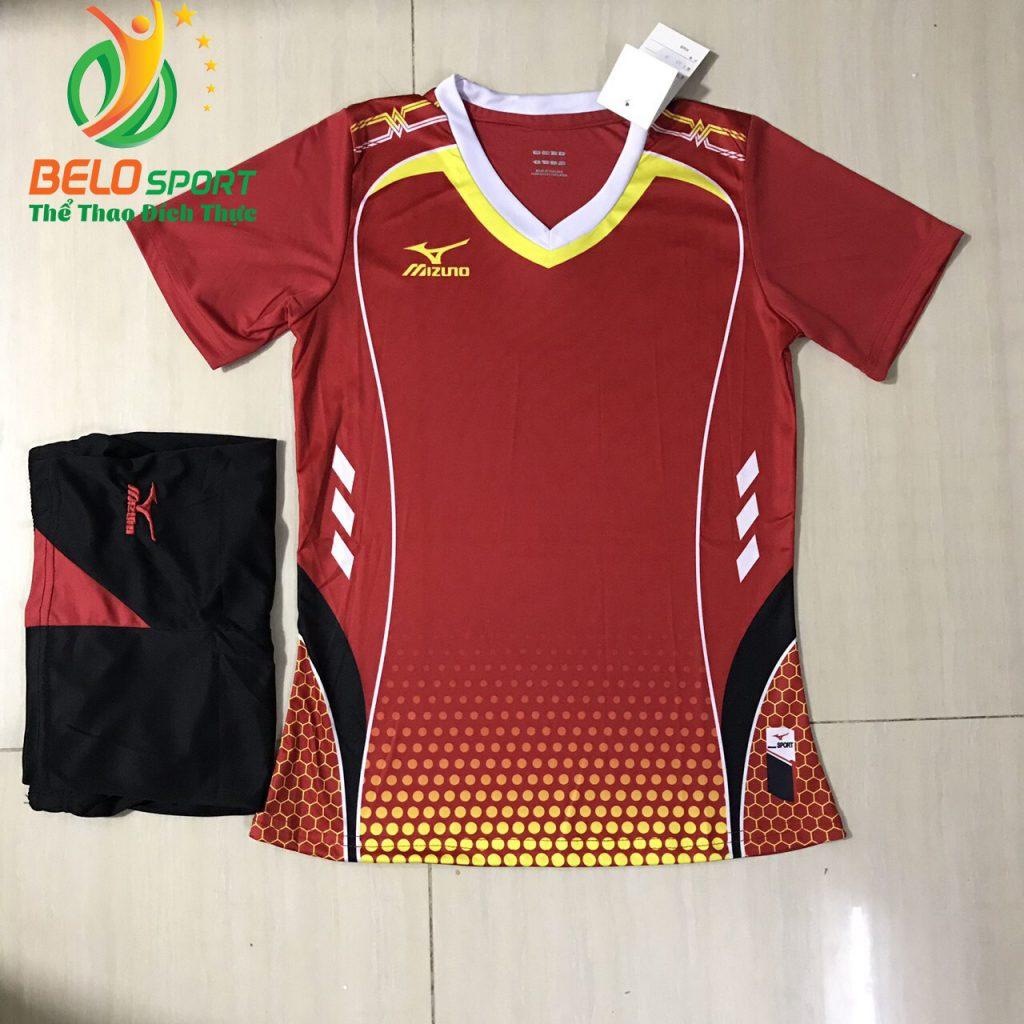 Áo bóng chuyền nam,nữ 2019 màu đỏ độc quyền thiết kế