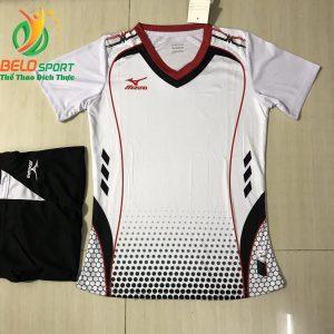 Áo bóng chuyền nam,nữ 2019 màu trắng độc quyền thiết kế