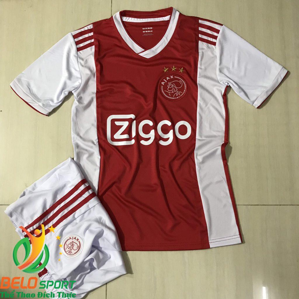 Áo Bóng đá CLB AJAX 2019 màu trắng pha đỏ