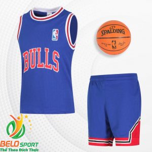 Bộ quần áo bóng rổ Bulls 2019 màu xanh dương