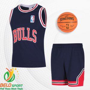 Bộ quần áo bóng rổ Bulls 2019 màu xanh tím than