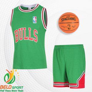 Bộ quần áo bóng rổ Bulls 2019 màu xanh lá