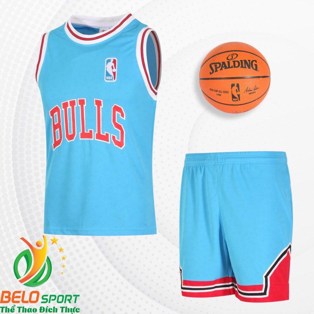 Bộ quần áo bóng rổ Bulls 2019 màu xanh ngọc