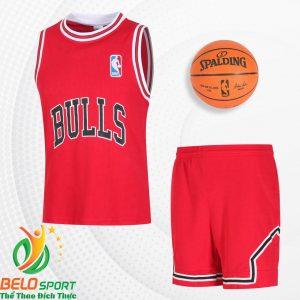 Bộ quần áo bóng rổ Bulls 2019 màu đỏ