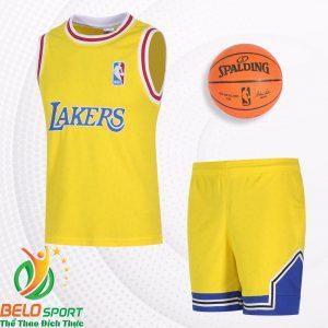 Bộ quần áo bóng rổ Bulls 2019 màu vàng