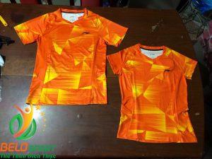 Áo Cầu Lông Nam, Nữ Giá Rẻ 2019 Lining màu cam