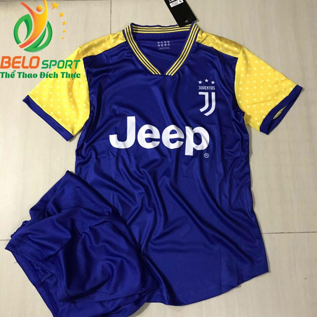 Áo Bóng đá CLB Juvetus 2019 màu xanh pha vàng