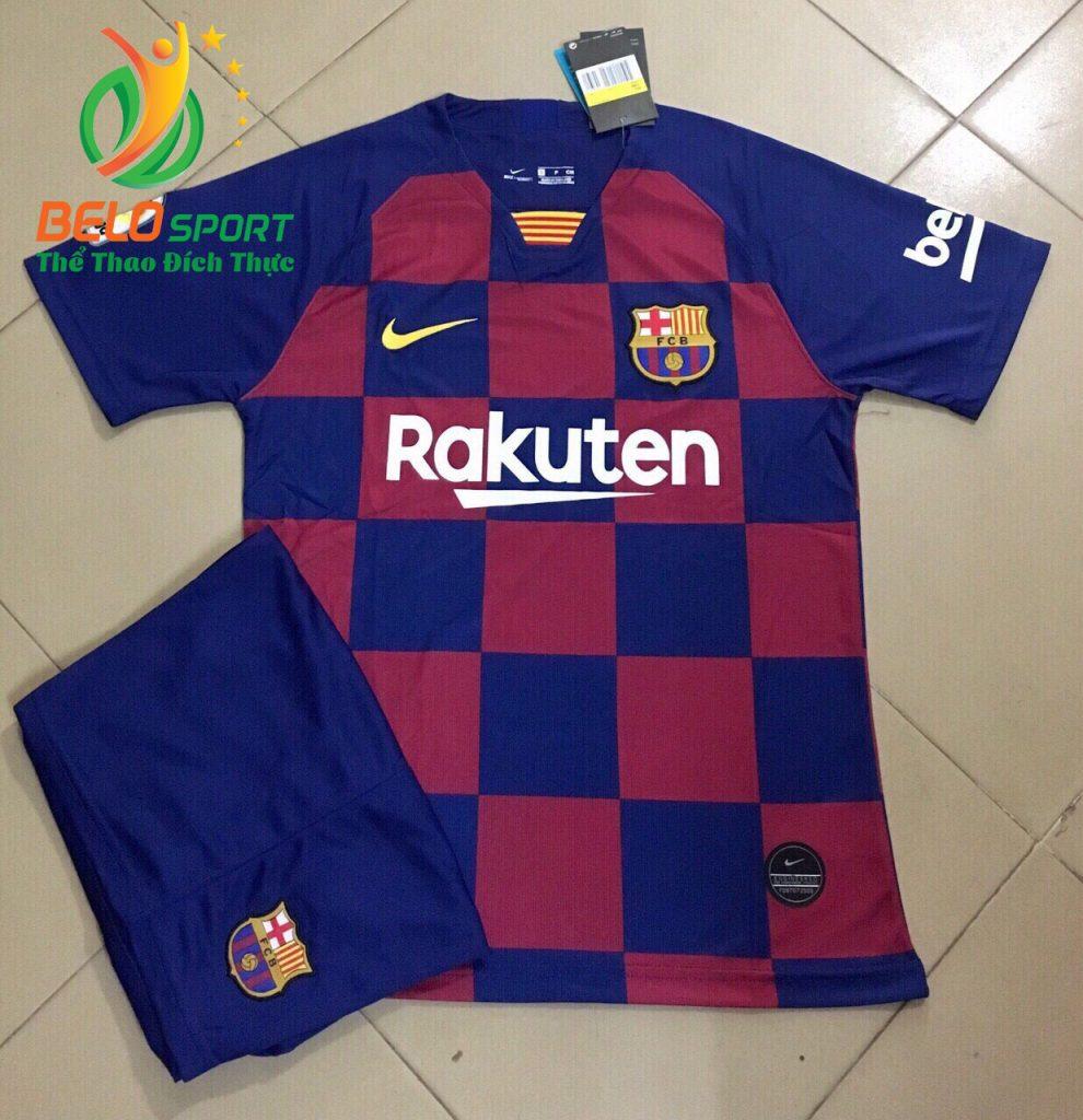 Áo bóng đá CLB Basa 2019-2020 màu xanh pha đỏ