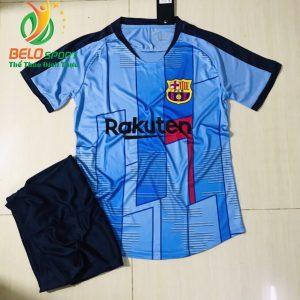 Áo bóng đá CLB barca 2019-2020 màu xanh ngọc