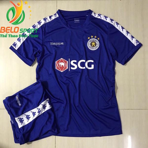 Áo bóng đá CLB Hà Nội T&T màu xanh 2019