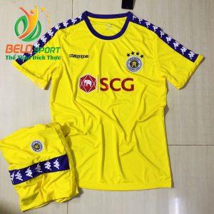 Áo bóng đá CLB T&T màu vàng 2019