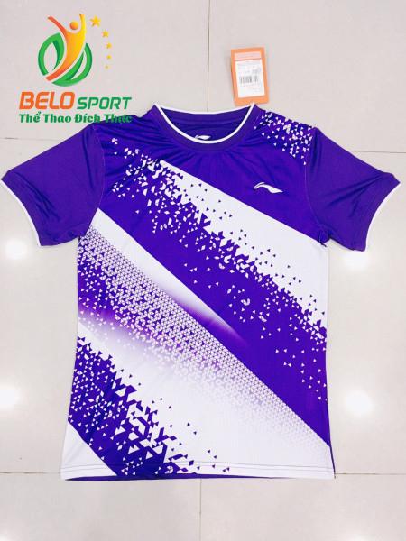 Áo cầu lông nam Lining màu tím 2019