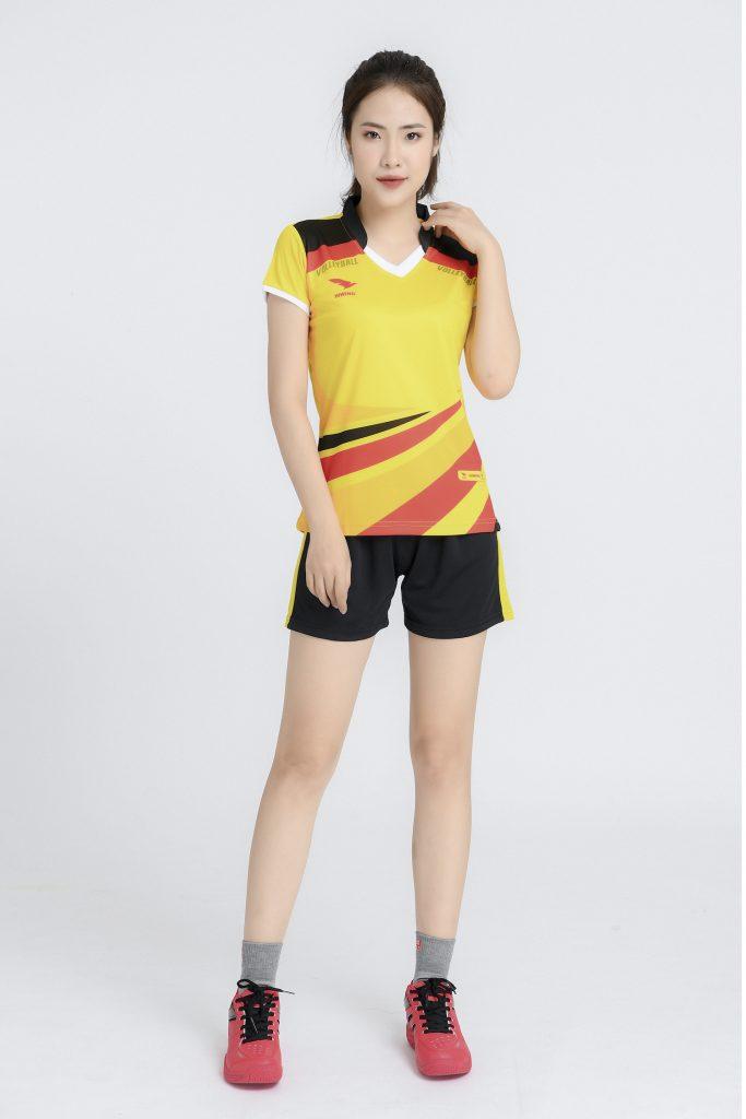fÁo bóng chuyền nữ Hiwing chính hãng mã H2 màu vàng
