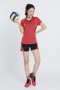 Áo bóng chuyền nữ Hiwing H1 chính hãng màu đỏ