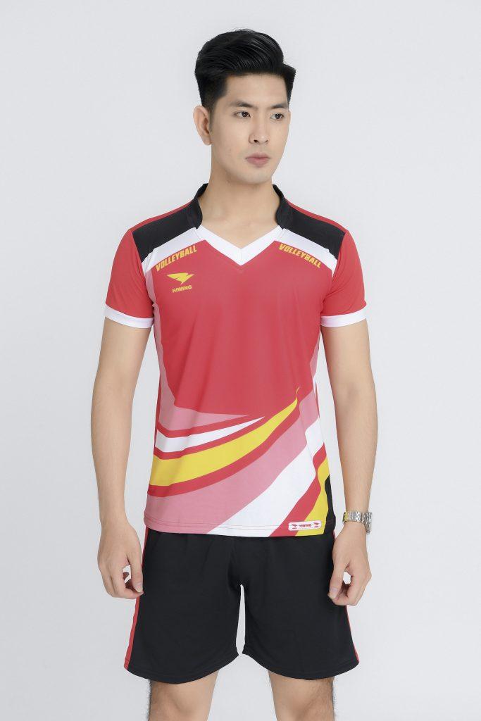 Áo bóng chuyền nam Hiwing chính hãng mã H2 màu đỏ