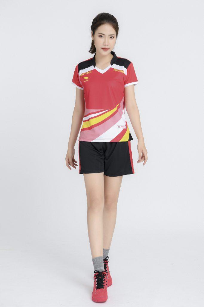 Áo bóng chuyền nữ Hiwing chính hãng mã H2 màu đỏ