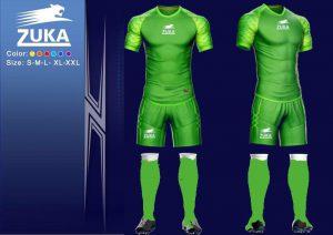 Áo bóng đá Zuka 1 màu xanh lục chính hãng độc quyền phân phối Belo