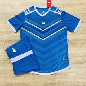 Áo bóng đá không logo NB màu xanh dương độc quyền Belo Sport