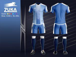 Áo bóng đá chính hãng zuka 2 màu xanh dương độc quyền phân phối Belo
