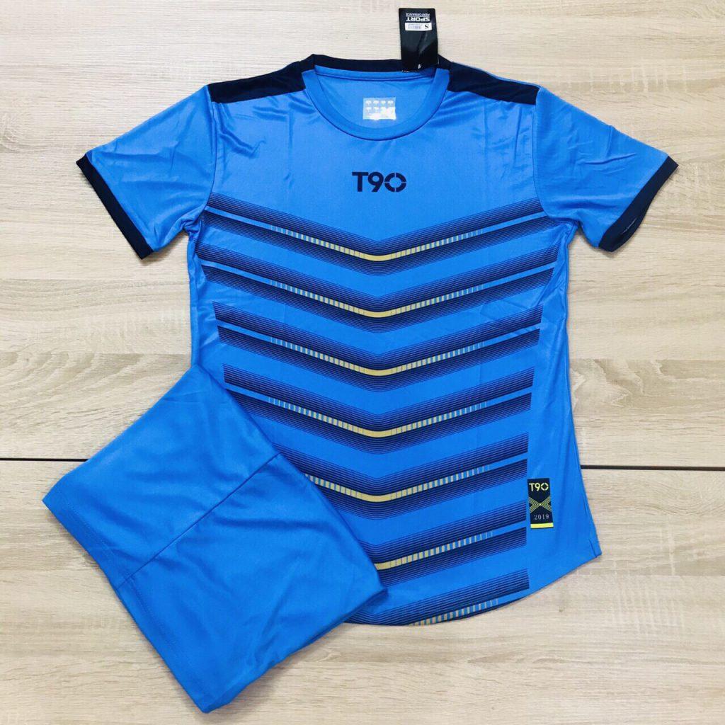 Áo bóng đá không logo T90 AKG 20204 màu xanh ngọc