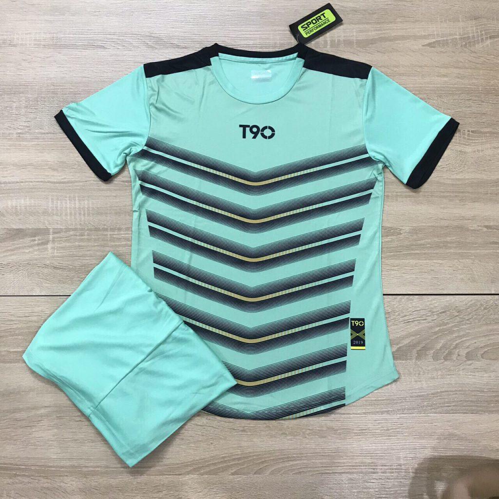 Áo bóng đá không logo T90 AKG 20203 màu xanh ngọc