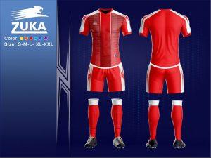 Áo bóng đá chính hãng zuka 2 màu đỏ độc quyền phân phối Belo
