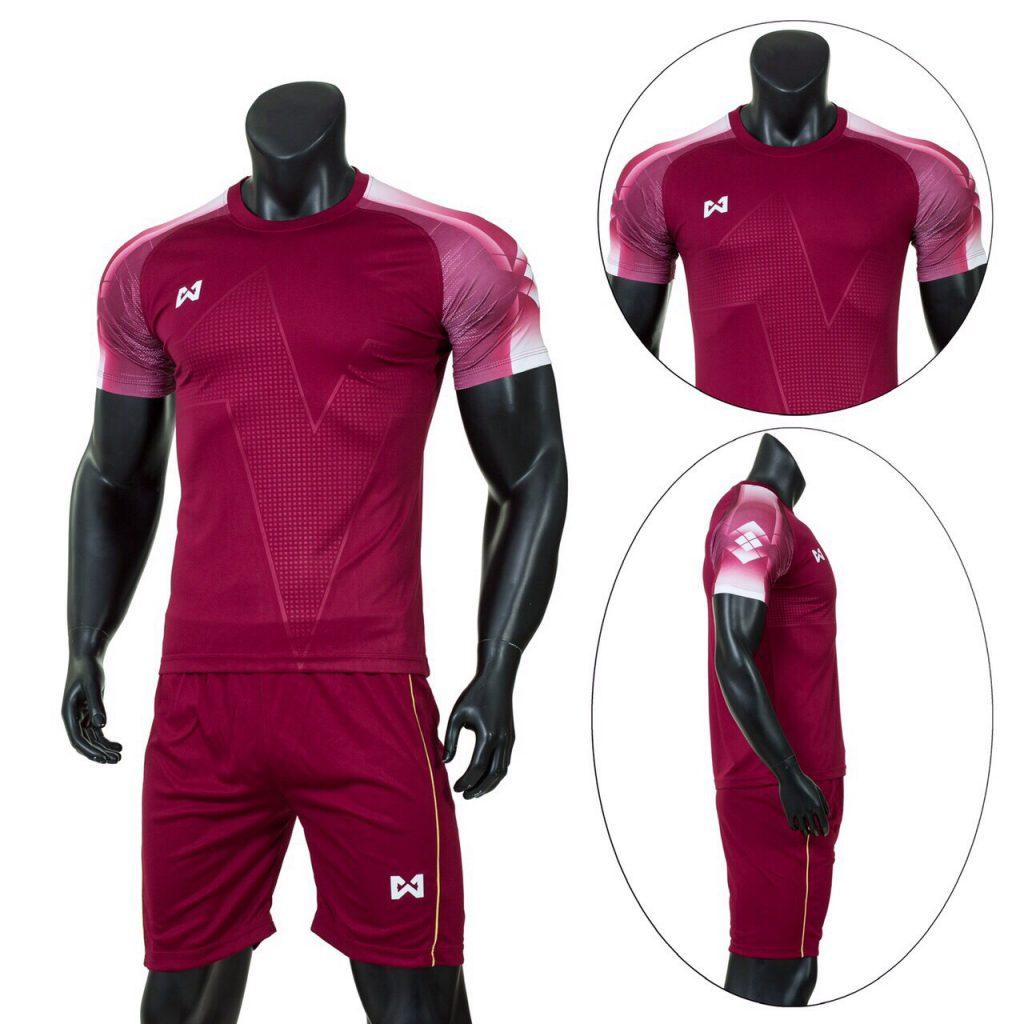 Áo bóng đá RIKI 1 cao cấp màu đỏ mận
