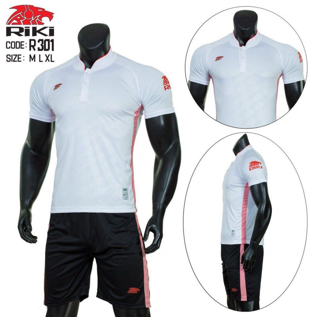 Áo bóng đá RIKI 1 cao cấp màu trắng