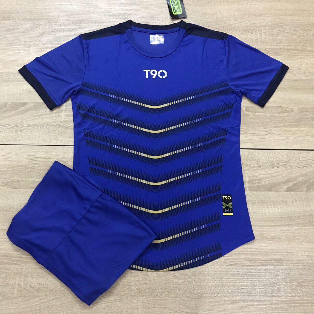 Áo bóng đá không logo T90 AKG 20202 màu xanh ngọc
