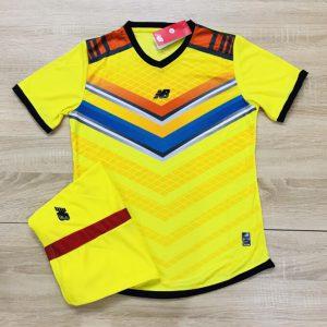 Áo bóng đá không logo NB màu vàng độc quyền Belo Sport