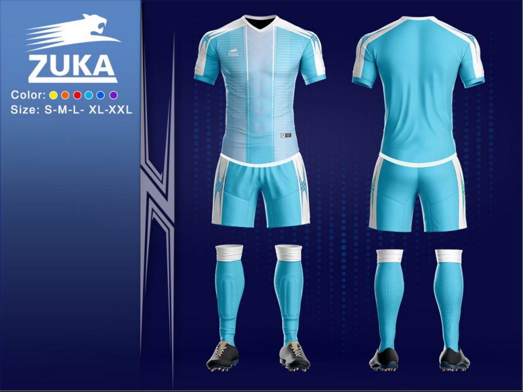 Áo bóng đá chính hãng zuka 2 màu xanh ngọc độc quyền phân phối Belo