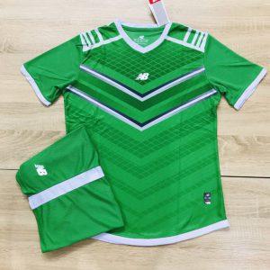 Áo bóng đá không logo NB màu xanh lá độc quyền Belo Sport