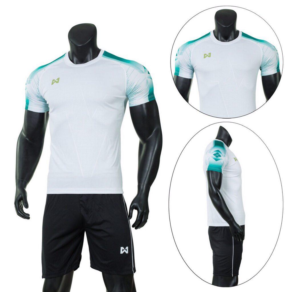 Áo bóng đá RIKI 1 cao cấp màu trắng xanh