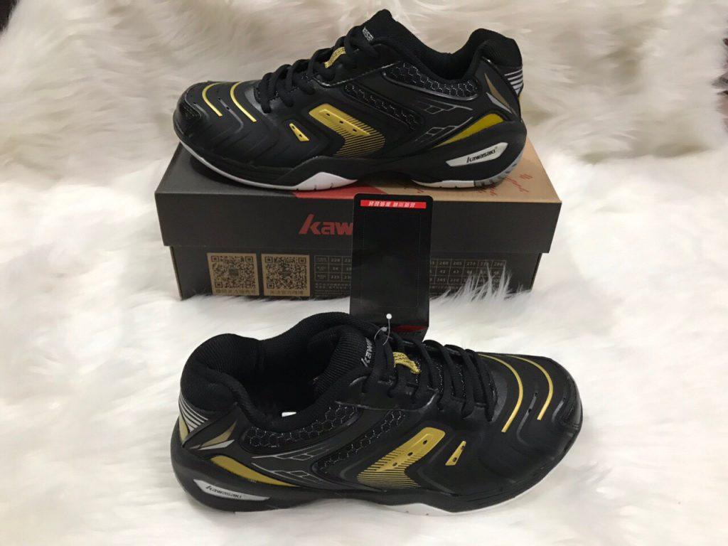Giày bóng chuyền, cầu lông Kawasaki K522 chính hãng màu đen vàng