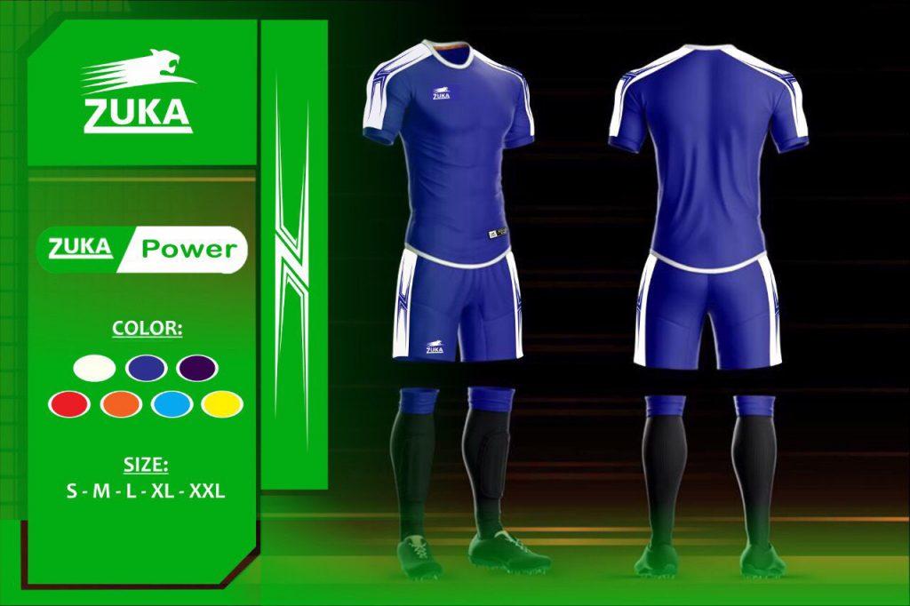 Áo bóng đá Zuka 1 màu xanh biển chính hãng độc quyền phân phối Belo