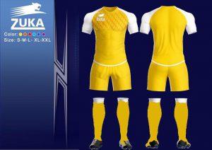 Áo bóng đá Zuka 1 màu vàng chính hãng độc quyền phân phối Belo