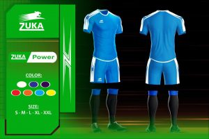 Áo bóng đá Zuka 1 màu xanh ngọc chính hãng độc quyền phân phối Belo