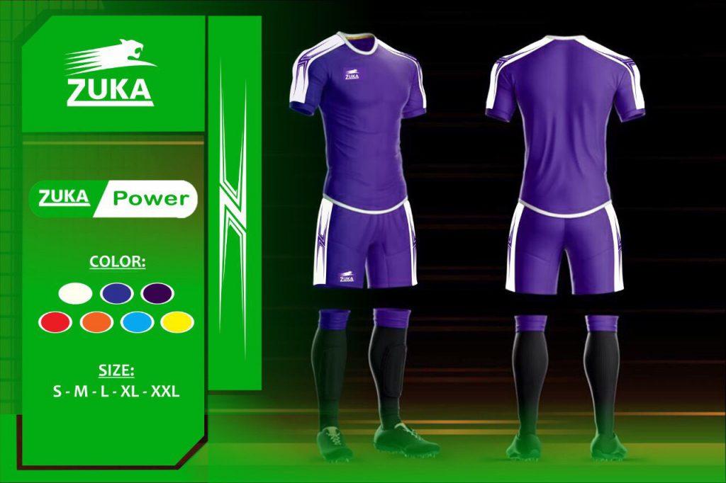 Áo bóng đá Zuka 1 màu tím chính hãng độc quyền phân phối Belo