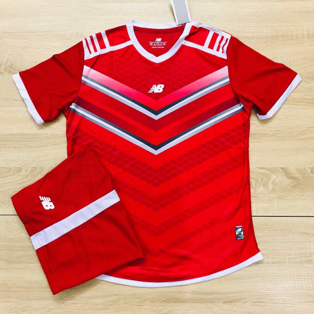 Áo bóng đá không logo NB màu đỏ độc quyền Belo Sport