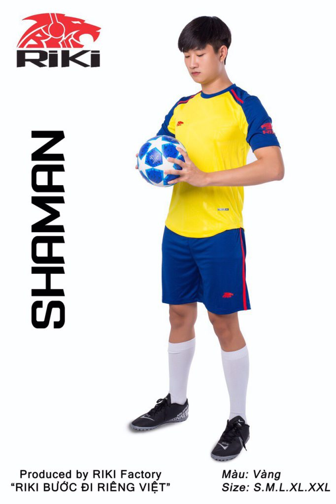 Áo bóng đá RIKI màu vàng xanh độc quyền phân phối Belo Sport
