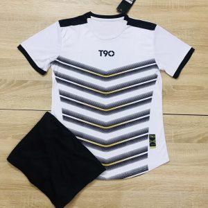 Áo bóng đá không logo T90 AKG màu xanh trắng