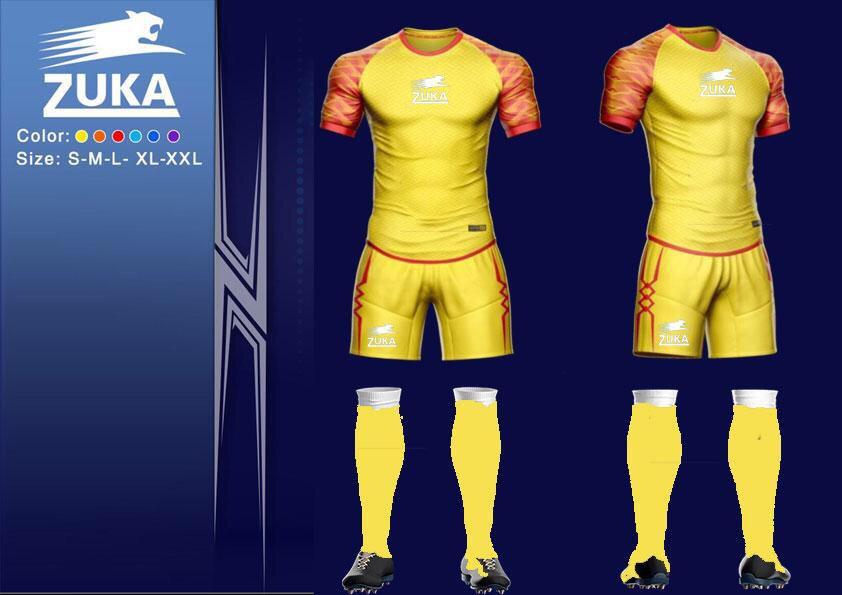 Áo bóng đá Zuka 1 màu vàng cam chính hãng độc quyền phân phối Belo