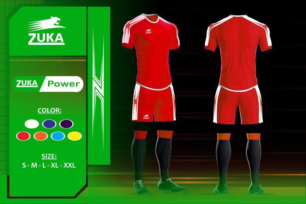Áo bóng đá Zuka 1 màu đỏ chính hãng độc quyền phân phối Belo